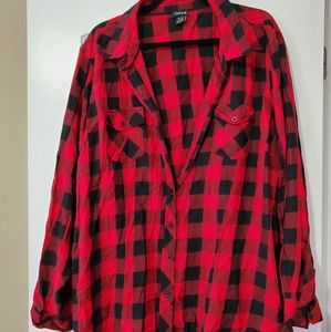 Red buffalo button up plaid